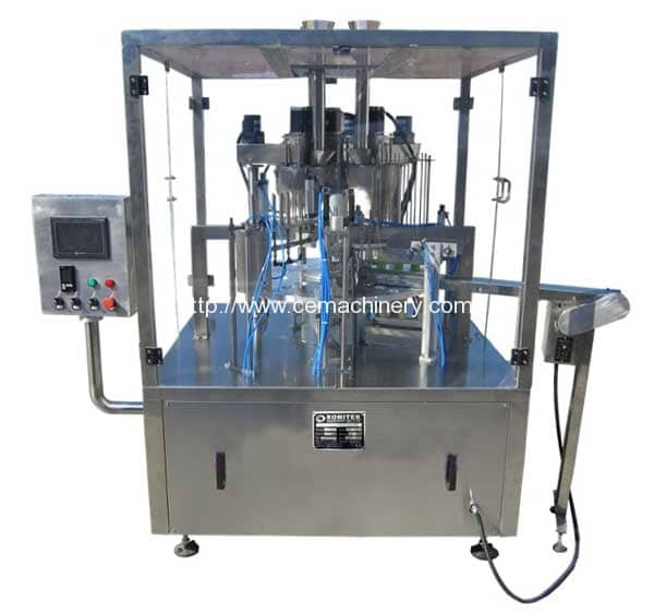 Full-Automatic-Rotary-Type-Coffee-Capsule-Filling-Sealing-Machine