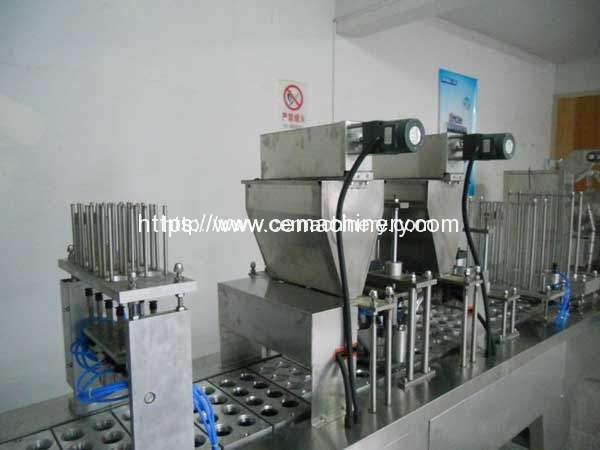 Linear-type-K-Cup-Coffee-Capsule-filling-sealing-machine