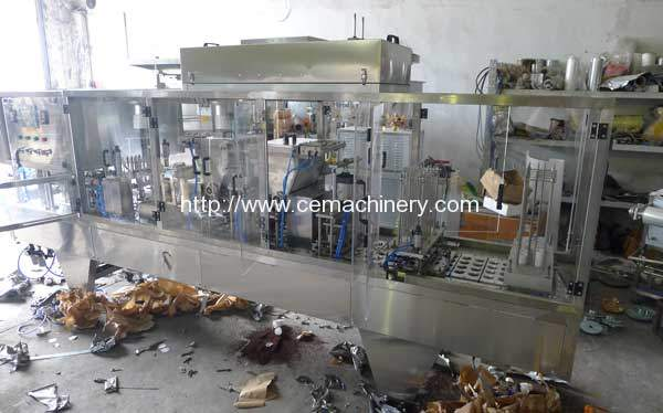 Plastic-Coffee-Cup-Filling-Sealing-Machine-with-Glass-Cover