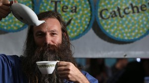 Stu the Tea Catcher sells tea at the Market Shed on Holland ... a favourite spot of Ian's.