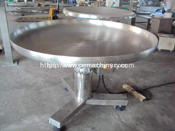 Rotary Collection Table for Food or Bags or Cartons