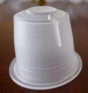 Empty Transparent Plastic Coffee Capsule