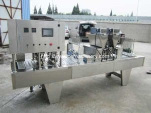 Full Automatic Linear Type Coffee Capsule Filling Sealing Machine