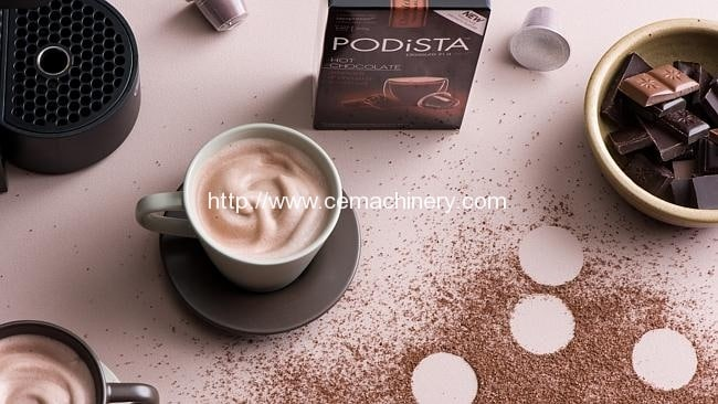 making Nespresso compatible coffee and hot chocolate pods 2