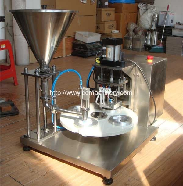 Semi-Automatic-Coffee-Capsule-Filling-Sealing-Machine for nespresso, K-cup, Lavazza Blue