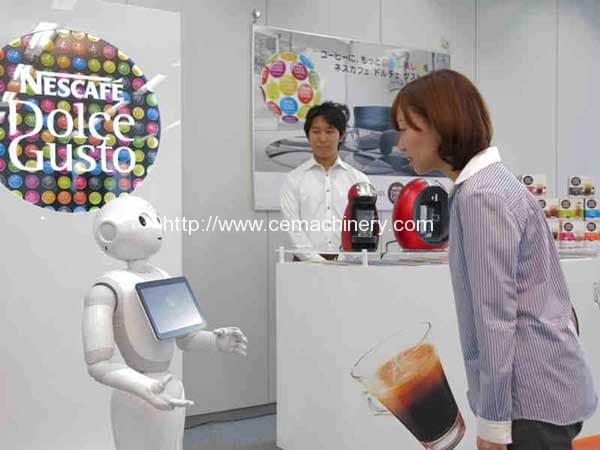 Softbank's Pepper Robot to Work at Nescafe Shops