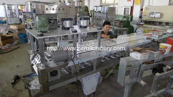 Four-Lane-K-Cup-Coffee-Capsule-Filling-Sealing-Machine