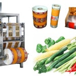 Mesh bag packing machine for vegetable and fruit