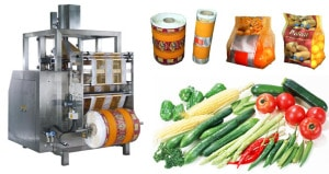 Mesh bag packing machine for vegetable and fruit 2