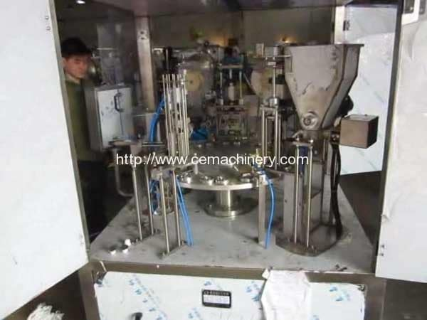 Full-Automatic-Rotary-Type-Nespresso-Compatible-Capsules-Filling-Sealing-Machine