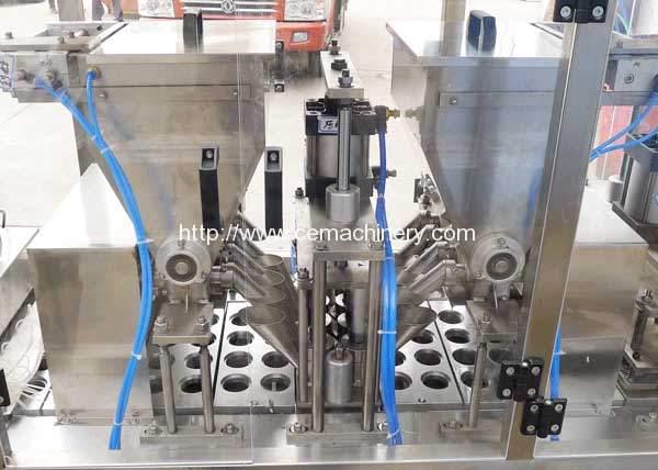 Lane-Type-Coffee-Capsules-Filling-Sealing-Machine-Coffee-Powder-Screw-Feeding-Device