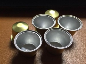 Aluminium Made Nespresso Coffee Capsules