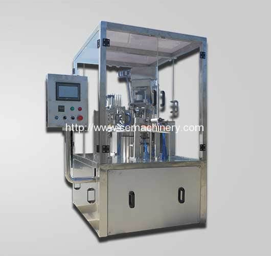 Rotary-Type-Coffee-Capsules-Filling-Sealing-Machine