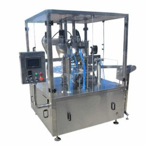 Three Header Rotary Kcups Coffee Capsules Filling Sealing Machine