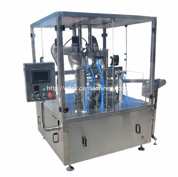 Three-Header-Rotary-Kcups-Coffee-Capsules-Filling-Sealing-Machine