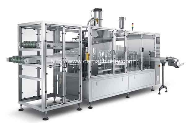 High Speed HRML-2 Nespresso Capsules Filling Sealing Machine for Spain Customer