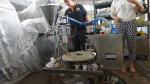 Thailand-customer-visit-all-in-one-nespresso-kcups-filling-sealing-machine