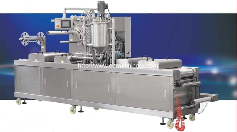 Thermoforming Container Butter Filling Sealing Machine