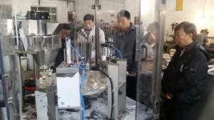 Singapore-Customer-Visit-Factory-for-Testing-Nespresso-Capsules-Filling-Sealing-Machine