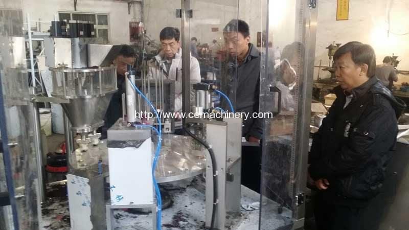 Singapore Customer Visit Factory for Testing Nespresso Capsules Filling Sealing Machine
