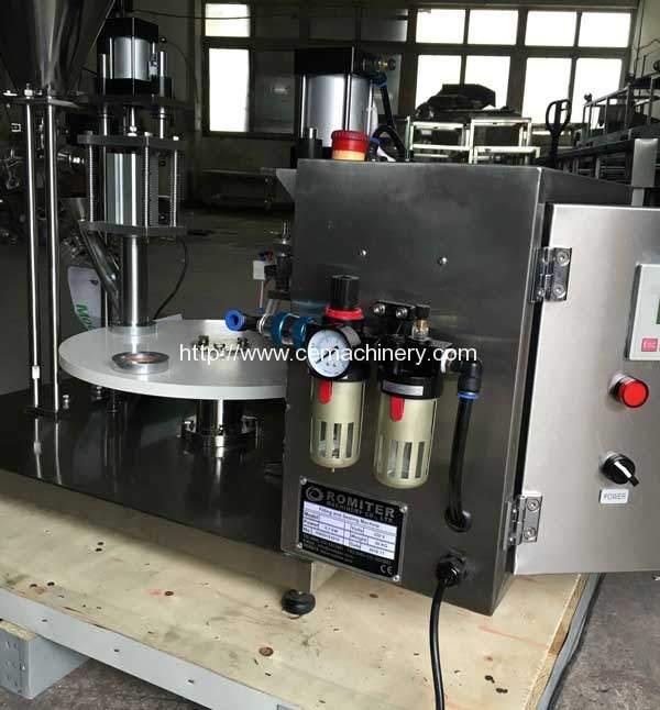 semi-automatic-lavazza-blue-filling-sealing-machine-for-italy-customer-delivery