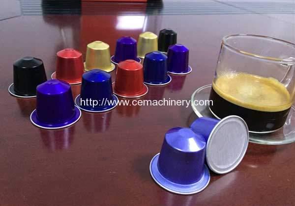 RMY-2 Aluminium Nespresso Capsules Filling Sealing Machine for Argentina Customer