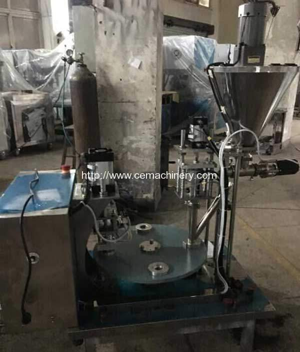 Semi Automatic Nespresso Coffeee Capsules Filling Sealing Machine for West Asia