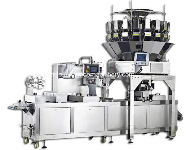 Automatic Granule Scaling Filling Thermoforming Packing Machine