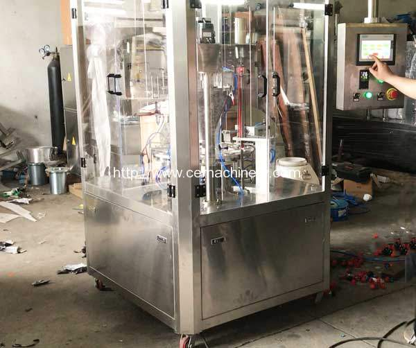 High Speed RMY-1 Nespresso Capules Filling Sealing Machine for Brasil Customer