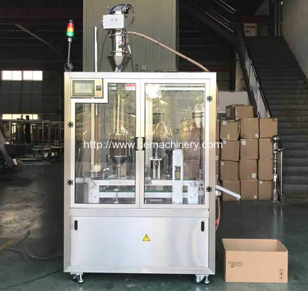 High Speed Lavazza Coffee Capsules Filling Sealing Machine for Europe Customer