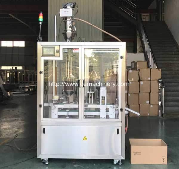 Высокоскоростная машина для запечатывания бутылок Nescafe Dolce Gusto с наружной печатью