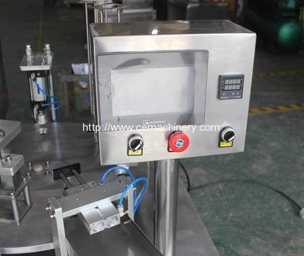 Automatic-Economic-Type-Coffee-Capsules-Filling-Sealing-Machine-PLC-Control-Box