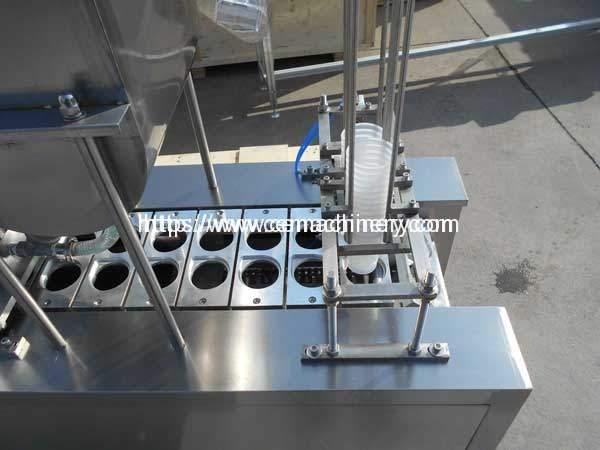 Liquid-Cup-Filing-Sealing-Machine-Cup-Falling-Device
