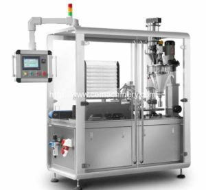 High Speed Rotary Motion Coffee Capsule Filling Sealing Packing Machine