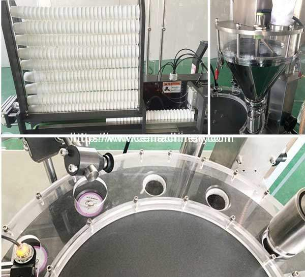 Special-Design-Cup-Feeding-Coffee-Powder-Feeding-and-Lid-Fallig-Device-for-High-Speed-Capsules-Filling-Sealing-Machine