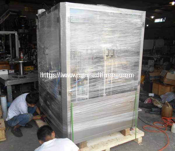 Aluminium-Nespresso-Coffee-Capsules-Filling-Sealing-Machine-Plywood-Package-Making-for-Egypt-Customer