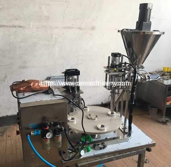 Semi-Automatic-Plastic-Nespresso-Capsules-Filling-Sealing-Machine