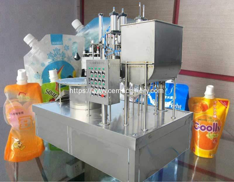 Manual-Doybag-Nozzle-Bag-Feeding-Paste-Filling-Capping-Machine