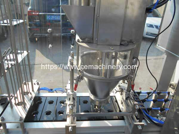 HRML-2-Nespresso-Capsules-Filling-Sealing-Machine-Screw-Powder-Feeding
