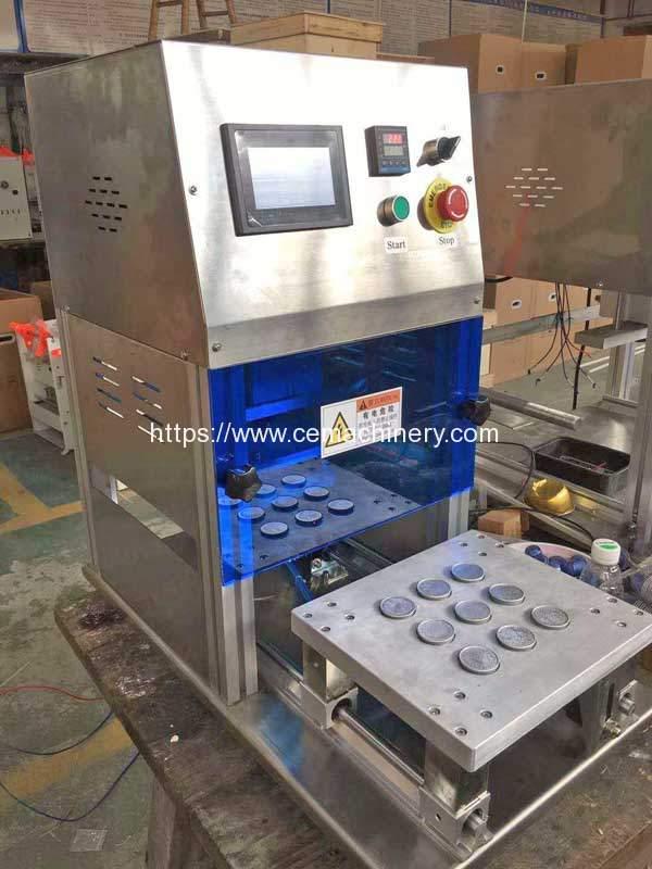 Pneumatic Aluminum Nespresso Capsules Sealing Machine