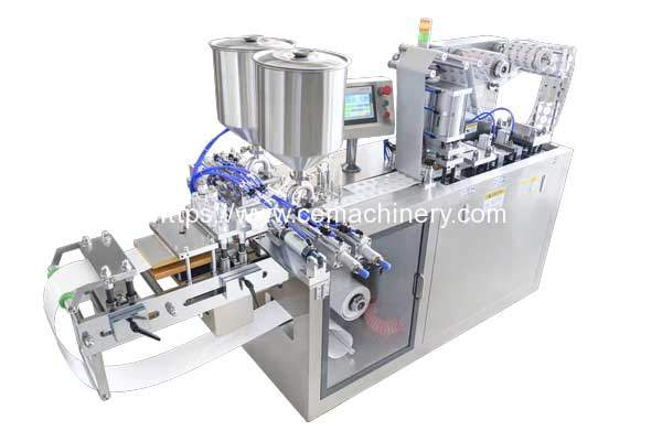 Thermoforming-Special-Shape-Container-Paste-Filling-Sealing-Machine