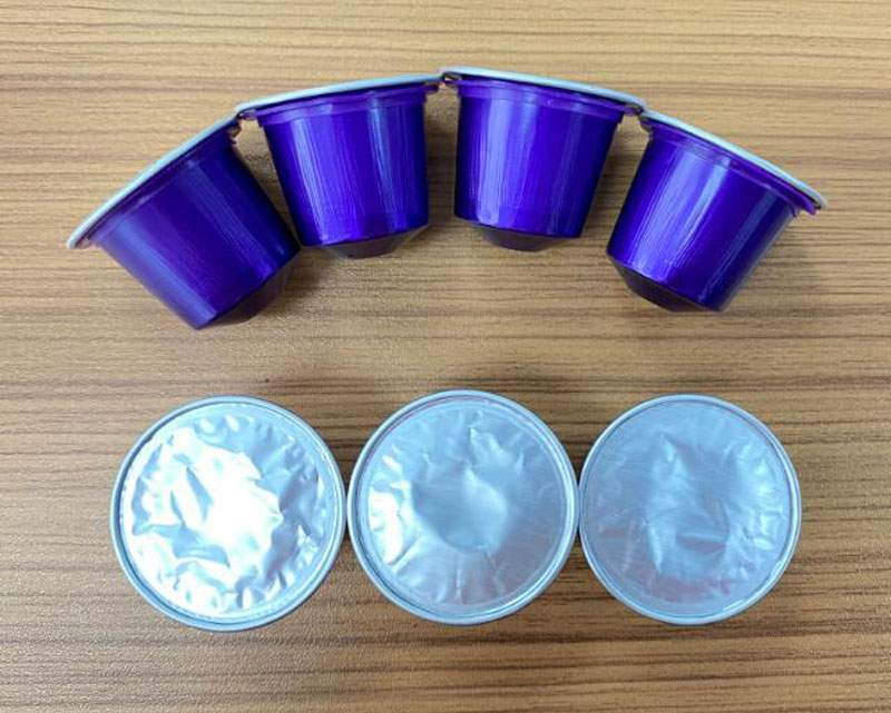 Semi-Automatic-Aluminum-Nespresso-Capsules-Filling-Sealing-Machine-for-Qatar-Customer
