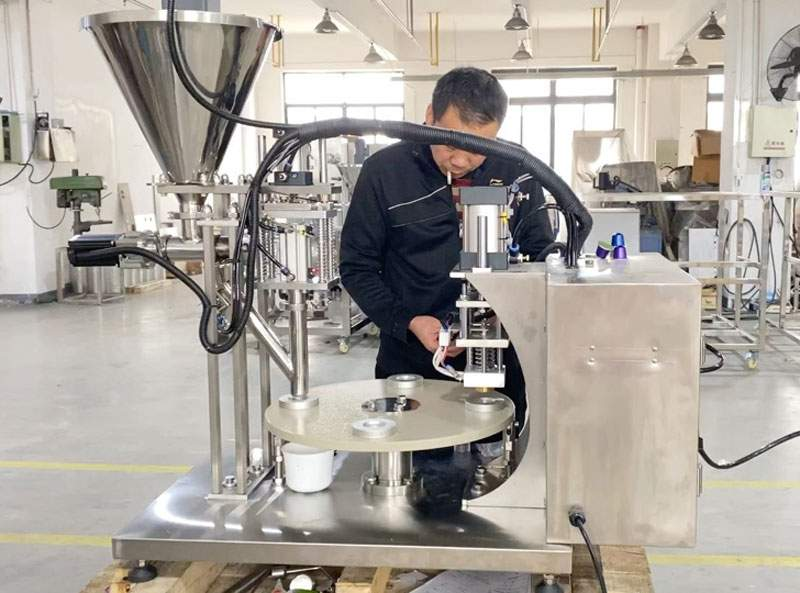 Semi-Automatic-Nespresso-Capsules-Filling-Sealing-Machine-for-Qatar-Customer