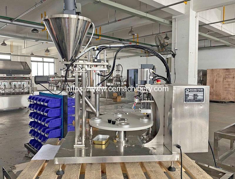 Plastic and Aluminum Nespresso Capsules Filling Sealing Machine for UK Customer